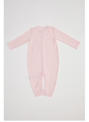 DeFacto Kız Bebek Yeni Doğan Tulum Pembe